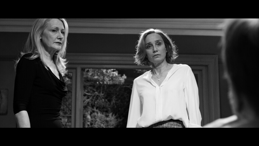 Patricia Clarkson and Kristin Scott Thomas star in <em>The Party, </em>a dark comedy about a get-together that goes just a little bit off the rails.