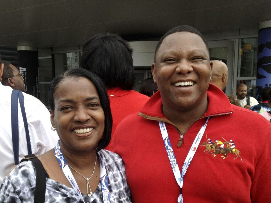 "Dianne Hart and Marcus Wheeler are both Florida delegates. Said Wheeler, of President Obama: ""I would have the same expectation for any president that I have for him."""