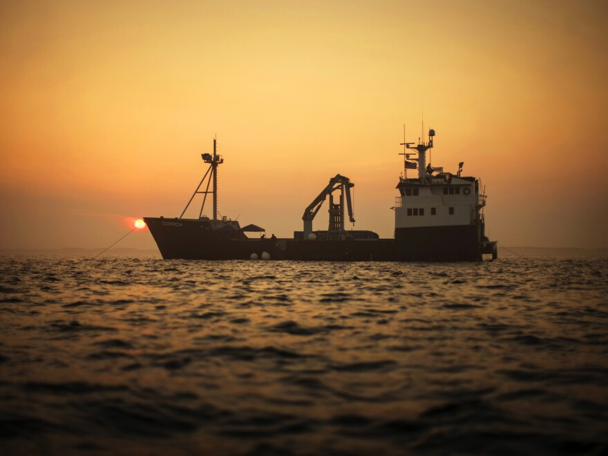 This OCEARCH ship carried Zoeller's first bourbon-aged barrels for three and a half years, covering more than 10,000 nautical miles. According to Tom Collins, a chemist at UC Davis, the higher temperatures of tropical locales, and the swill of the ocean, can accelerate the whiskey aging process.