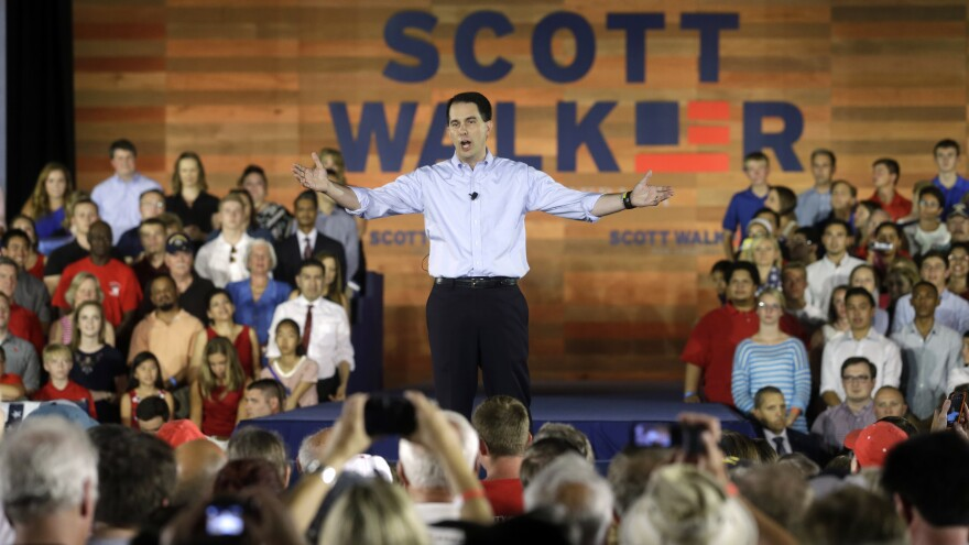 """""""Instead of the top-down, government-knows-best approach we hear from politicians in Washington, we need to build the economy from the ground up in a way that is new and fresh, organic and dynamic,"""" Gov. Scott Walker said, announcing his candidacy in Waukesha, Wis."""