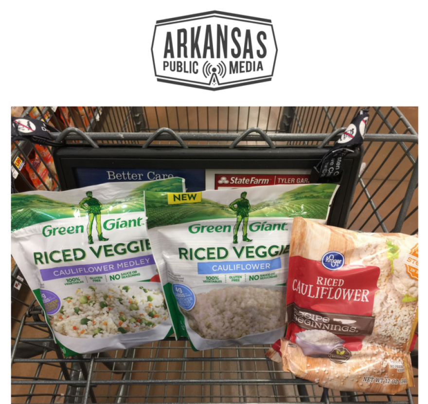 """Products, such as these, that use the words """"rice"""" or """"riced"""" but contain vegetables instead of the grain are raising the ire of Arkansas's rice industry."""