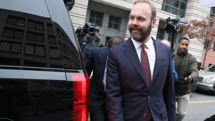 Rick Gates, a former associate of Paul Manafort, leaves the federal courthouse in Washington, D.C., after a February hearing. He is expected to be the government's star witness at the Manafort trial in Virginia.