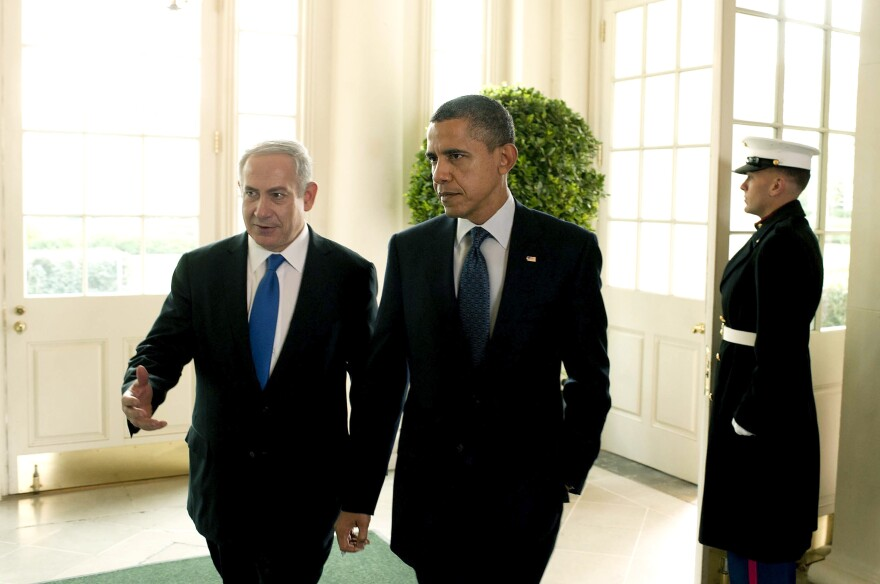 President Obama talks with Israeli Prime Minister Benjamin Netanyahu at the White House in March. Netanyahu and the Obama administration clashed openly this week over the issue of Iran's nuclear program.