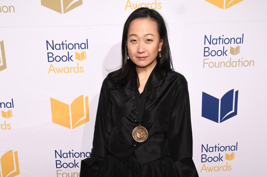 Min Jin Lee attends the 68th National Book Awards at Cipriani Wall Street on Nov. 15, 2017 in New York City. (Dimitrios Kambouris/Getty Images)