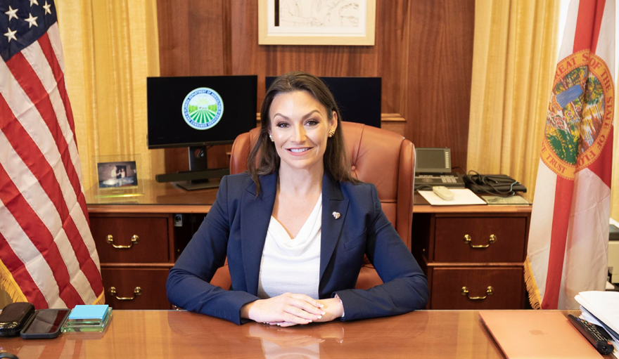 """""""This president is a disaster for American farmers,"""" Florida Agriculture Commissioner Nikki Fried said in response to President Donald Trump's trade policies."""