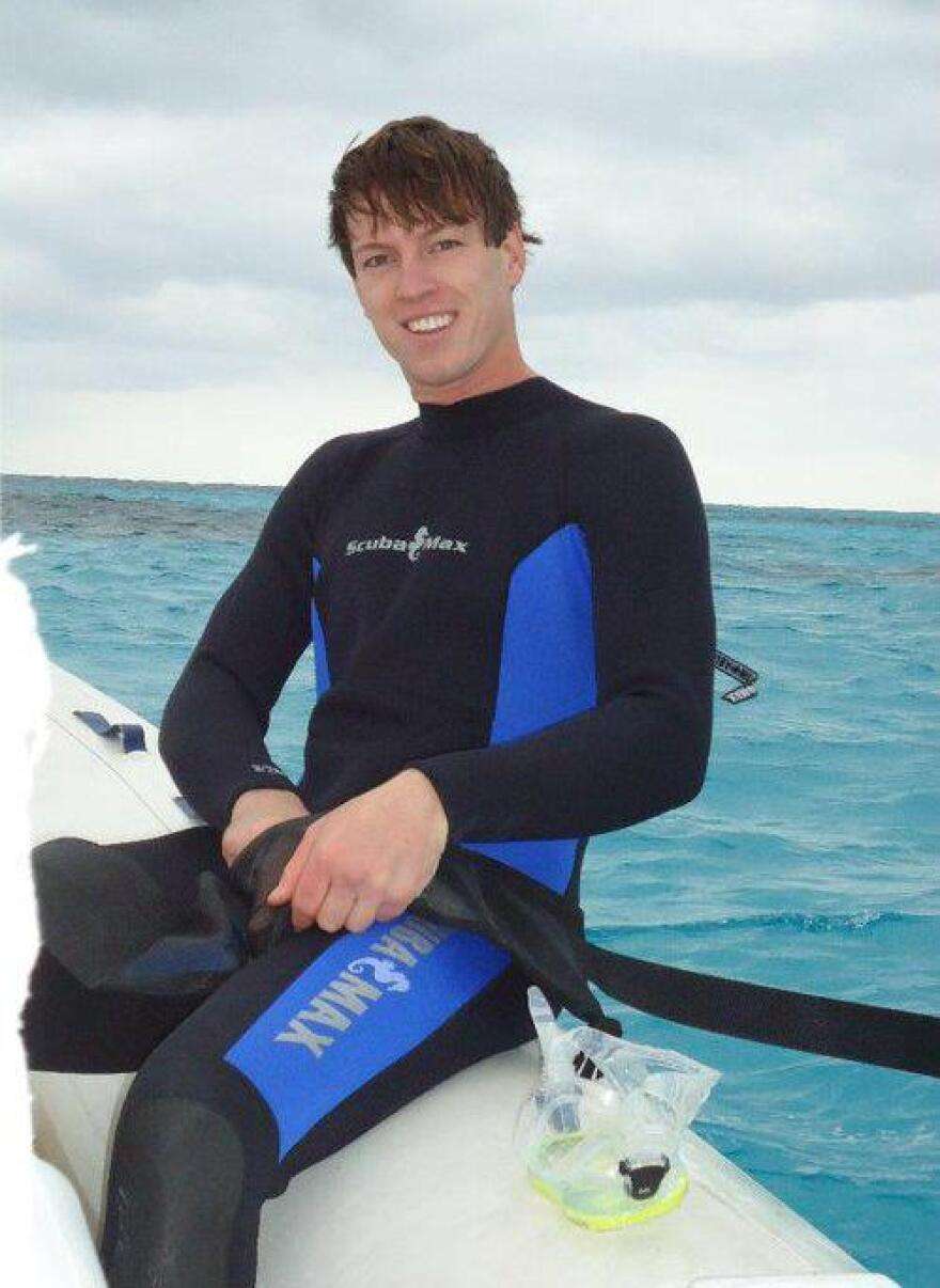 Whitner Milner, a recreational diver, drowned at age 25.