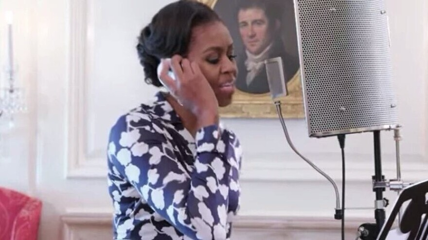 FLOTUS on the mic.
