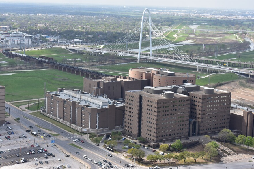 Aerial photo of the Dallas County Jail