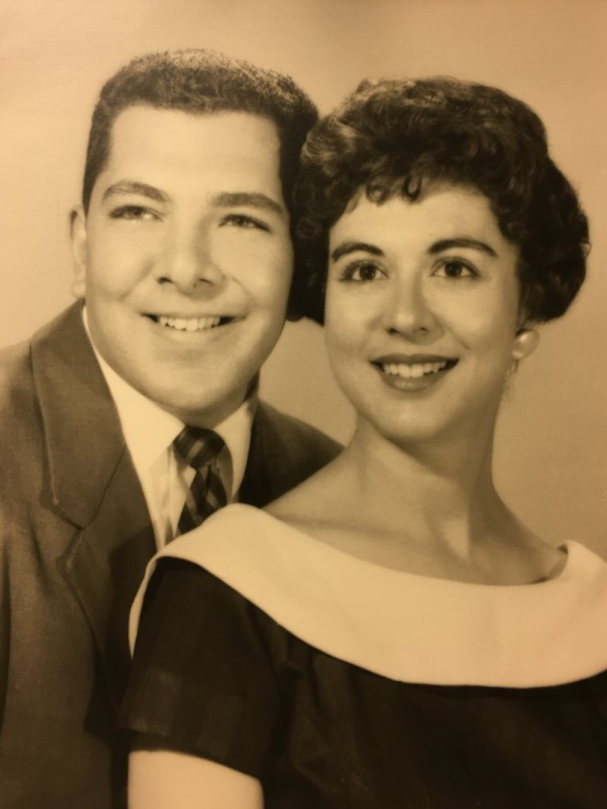 Larry and Anne Sandell as a young couple.