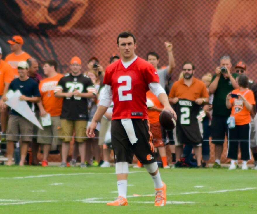 Photo of Manziel at training camp in 2014