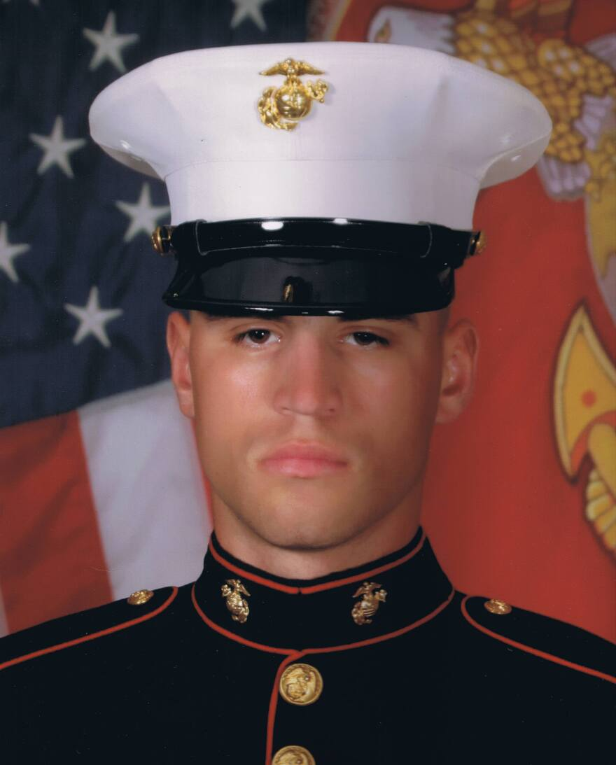 """Lance Cpl. Nicholas Rodriguez joined the Marines at the age of 21. He """"wanted to go and help the world in some way,"""" says his stepfather, Michael Geiger."""