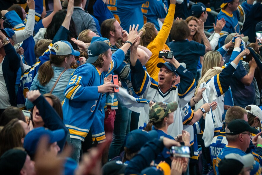 Blues fans packed the Enterprise Center in St. Louis and erupted as the team won its first Stanley Cup, defeating the Boston Bruins in Game 7. June 12, 2019