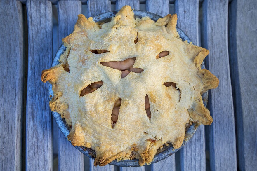 Kathy's apple pie. (Jesse Costa/WBUR)