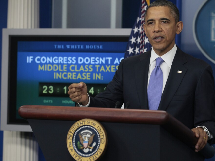 President Obama at news conference, Dec. 8, 2011.
