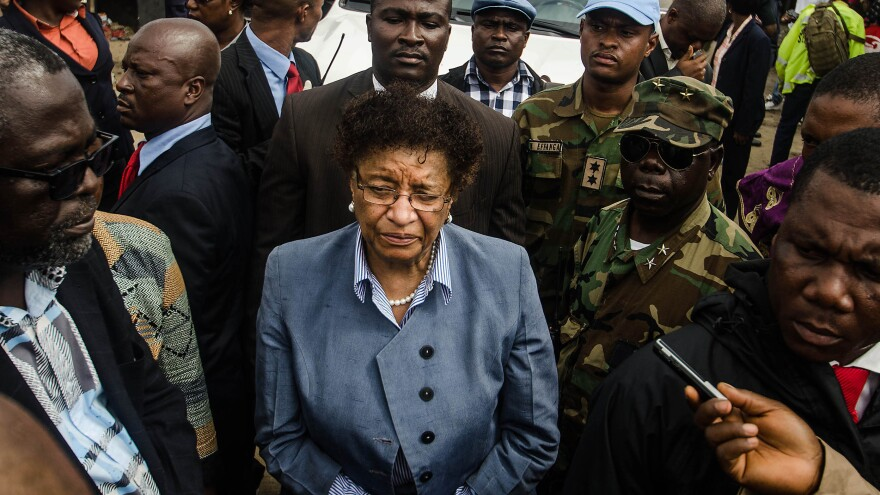 Liberian President Ellen Johnson Sirleaf visited West Point in August, when the impoverished neighborhood was quarantined to prevent the spread of Ebola.