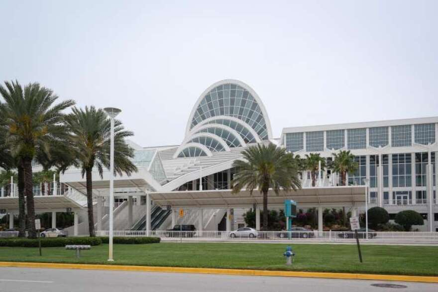Outside of Orange County Convention Center