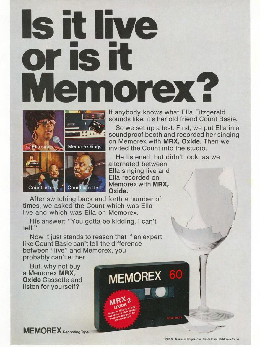Ella Fitzgerald's Memorex ad from 1974.