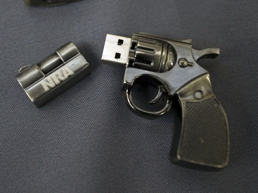 A National Rifle Association flash drive was confiscated from a passenger at Dulles International Airport in Virginia last year.