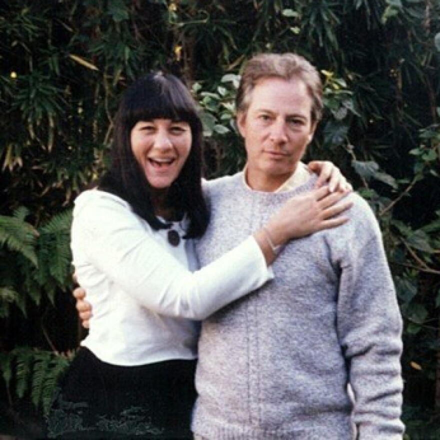 Robert Durst (right) is pictured with his friend Susan Berman, who was found dead in 2000, in a photo from <em>The Jinx</em>.
