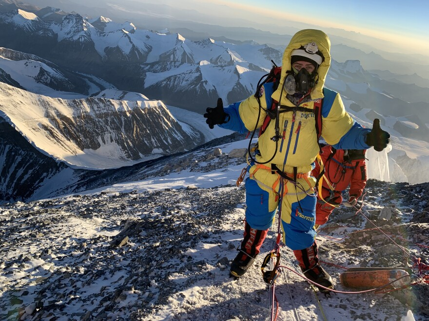 Photo of Rob Lea on mountain.
