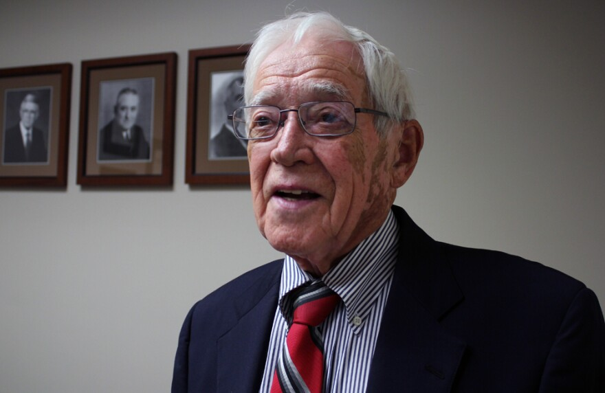 Rober Moodie, 89, joined the family business when he returned to West Point, Neb., to practive law in 1952.