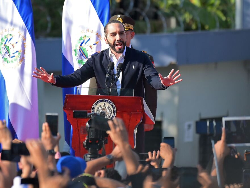 Salvadoran President Nayib Bukele, pictured in February, has authorized police to use lethal force against gang members who allegedly ordered murders to take advantage of police attention to the coronavirus.