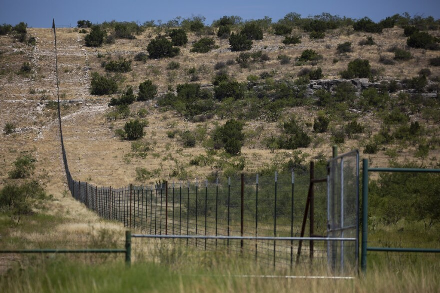Ranchland near San Angelo, Texas, in Tom Green County.