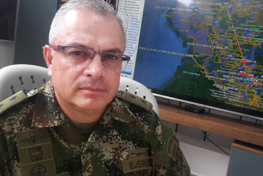 Gen. Adolfo Hernández, Colombian army commander in Tumaco, Colombia.