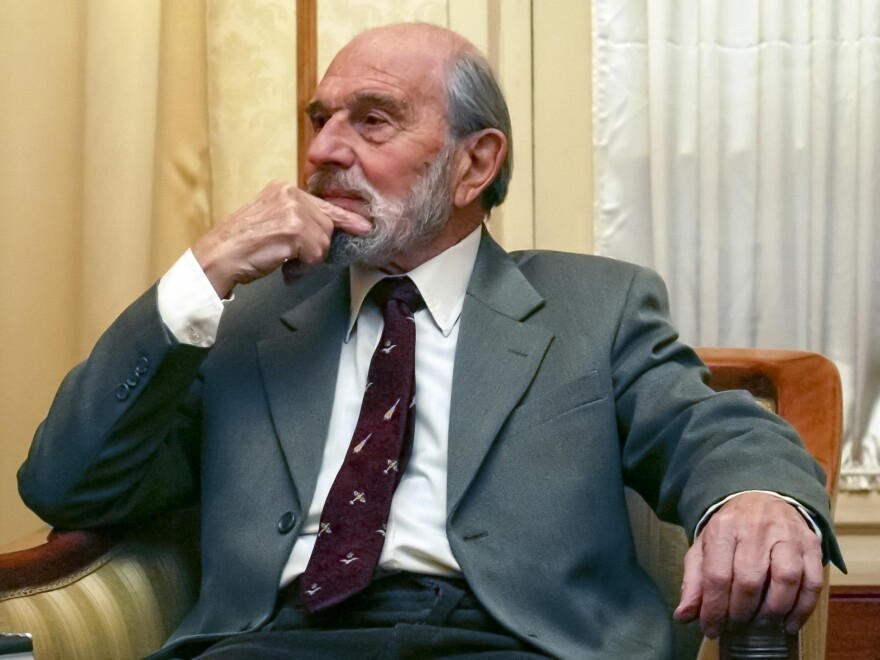George Blake, a former British spy and double agent in service of the Soviet Union, in Moscow in 2006.