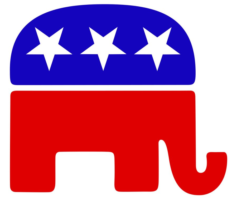 Republican GOP - RIGHT WIDTH - also avail. gopelephantleft