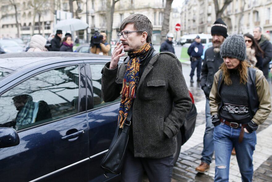 French caricaturist Luz, seen on Jan. 15, says drawing Islam's Prophet Muhammad no longer interests him.