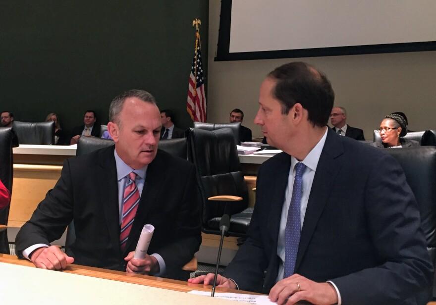 House Speaker Richard Corcoran (left) and Senate President Joe Negron.