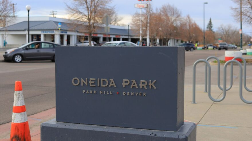 Oneida Park in the Park Hill Neighborhood of Denver, Colorado. Dozens of people are out of work in this single block.