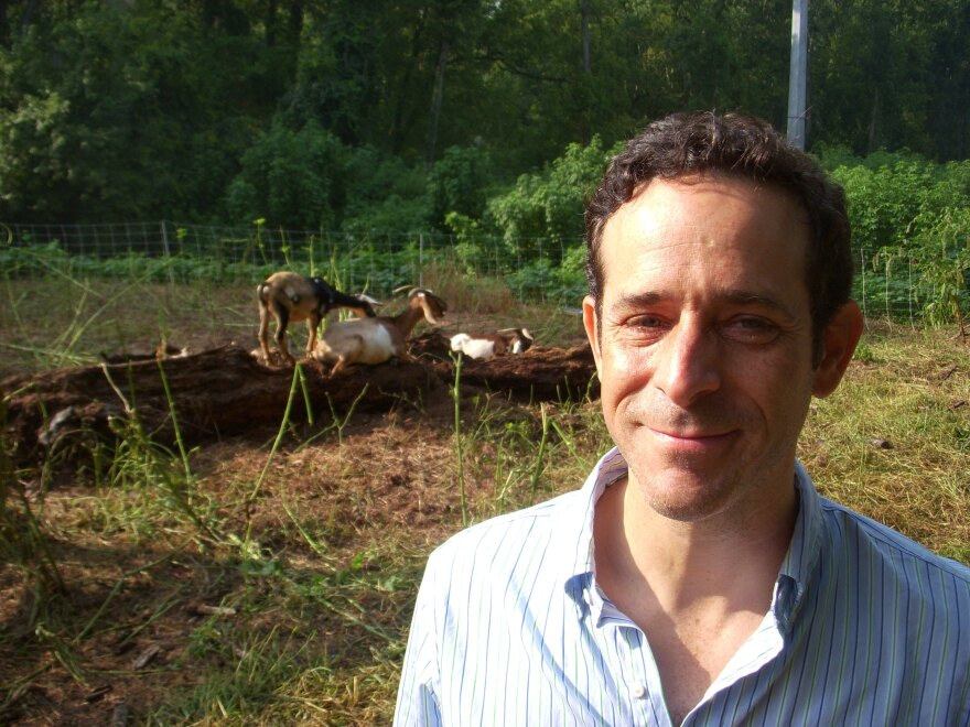 Greg Levine, with the nonprofit Trees Atlanta, is working to plant new trees and saplings in the area.