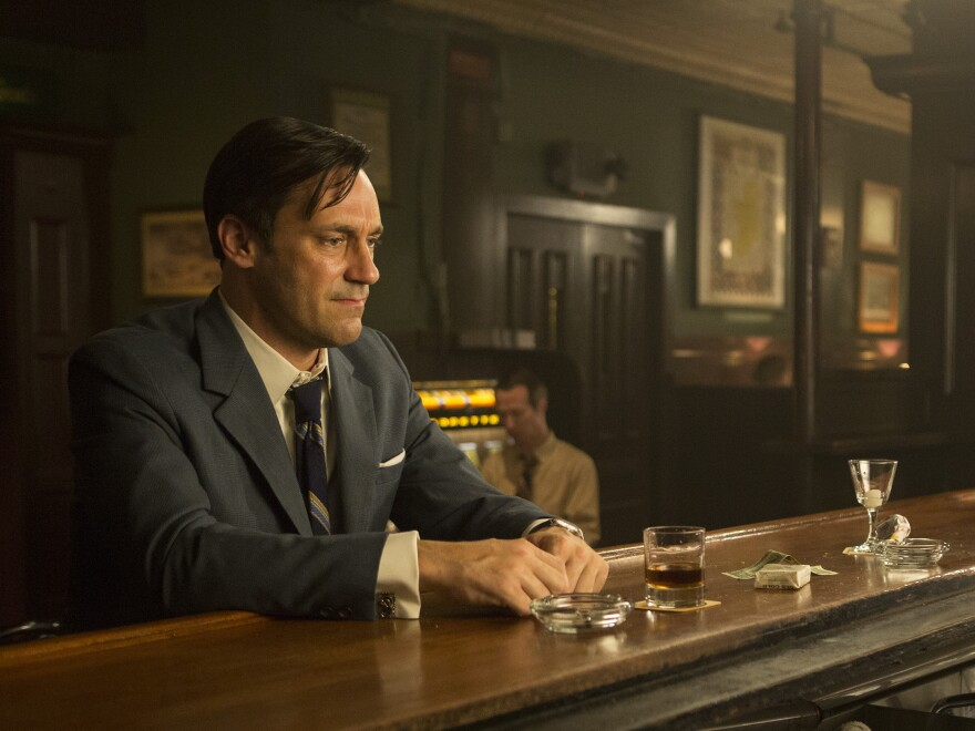 Don Draper (Jon Hamm) faces personal and professional upheaval in the final season of <em>Mad Men.</em>