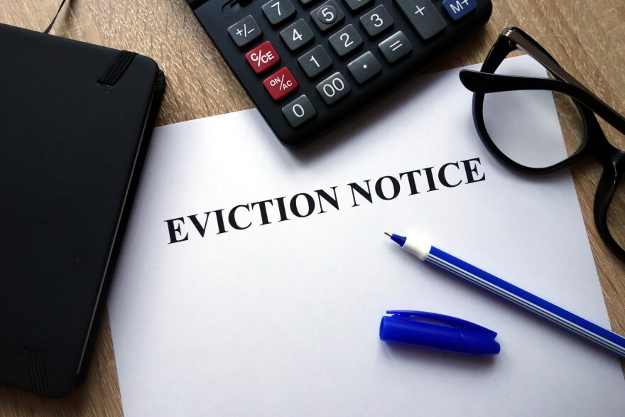 Eviction notice stock
