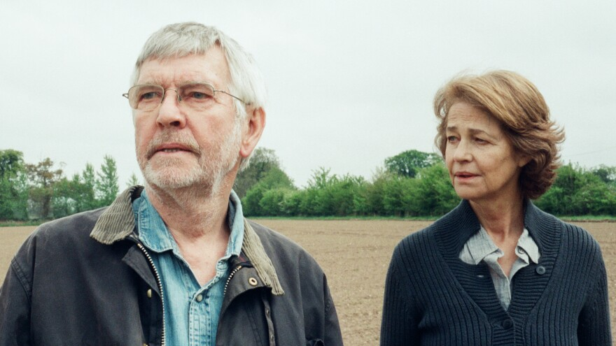 Tom Courtenay and Charlotte Rampling play a married couple forced to reassess their relationship in Andrew Haigh's film, <em>45 Years.</em>