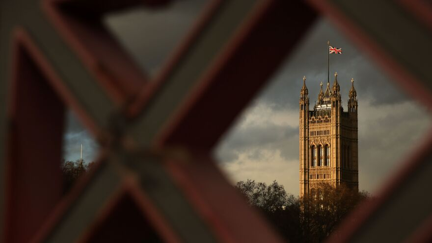 The Union Jack flies above the Palace of Westminster, the seat of Parliament in London. U.K. lawmakers are expected to decide soon the fate of a draft Brexit deal negotiated between Prime Minister Theresa May and the European Union.