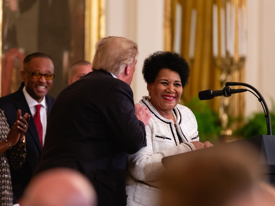 President Trump commuted the sentence of and later pardoned Alice Marie Johnson, who had received a life term in a drug case.