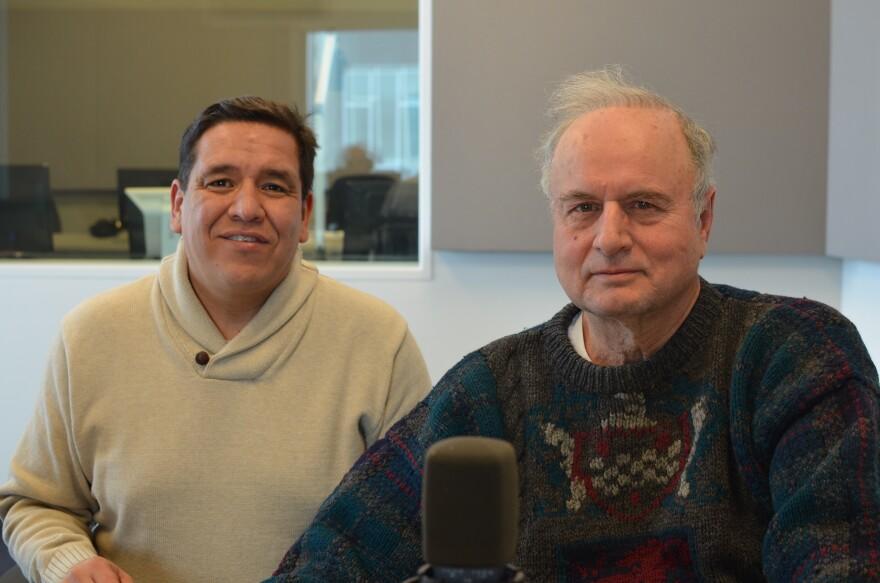 Saint Louis University professors Ness Sandoval and Ken Warren.