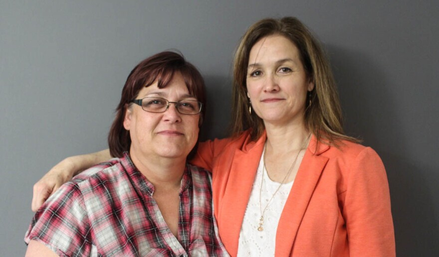 Glennette Rozelle (left) and Jennifer Mack at their StoryCorps conversation in Oklahoma City last month.