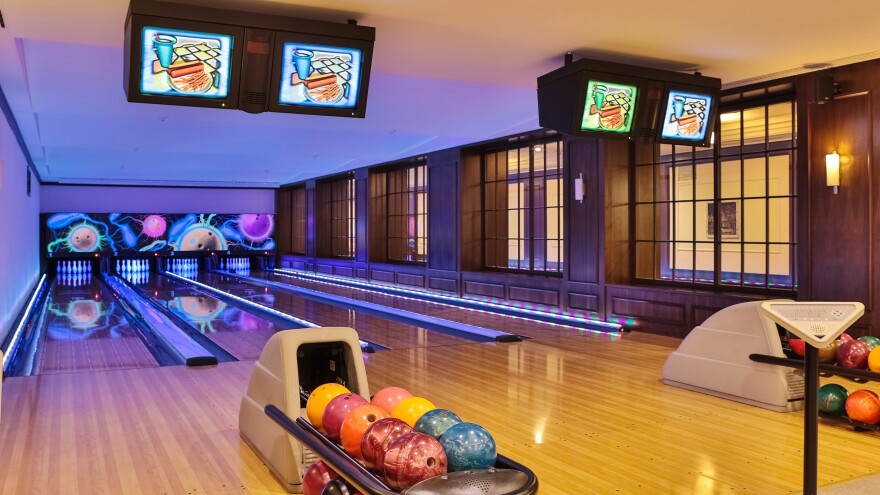 photo of a bowling alley