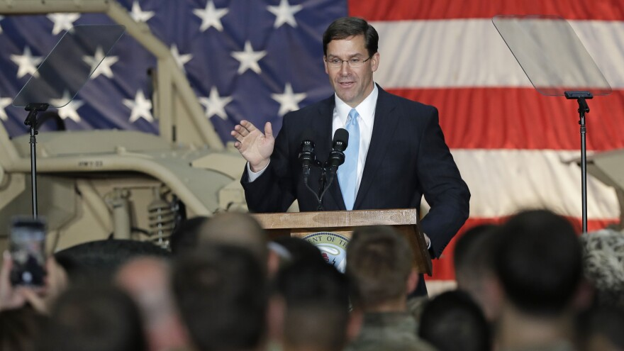Secretary of the Army Mark Esper — seen in Ft. Bragg, N.C., in April — will now serve as acting secretary of defense, President Trump announced on Tuesday.