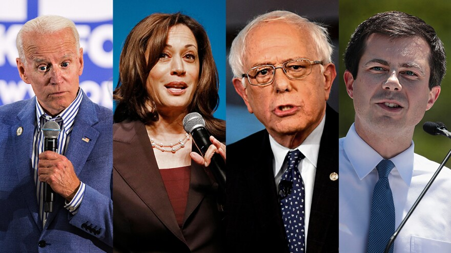 Former Vice President Joe Biden, Sen. Kamala Harris, Sen. Bernie Sanders, Mayor Pete Buttigieg will all be on the debate stage together on June 27.