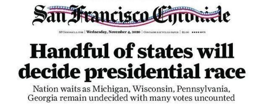 """Handful of states will decide presidential race,"" declared the <em>San Francisco Chronicle </em>on Wednesday. California is not among them."