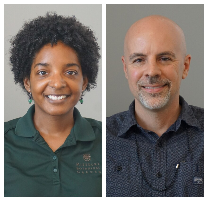 Daria McKevley is the supervisor of home gardening information and outreach at the Missouri Botanical Garden. Adam Smith is the assistant scientist at the Missouri Botanical Garden's Center for Conservation and Sustainable Development.