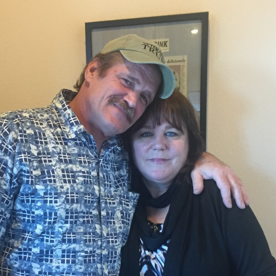 """Brent and Lesley Harger don't like the kind of change they see in Washoe County, Nev. """"We just keep our eyes open and we're vigilant because of the way the terrorists, you know, are coming into our country,"""" Lesley Harger says."""