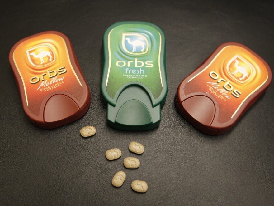 R.J. Reynolds' Orbs, a dissolvable tobacco product. The Food and Drug administration is studying the flavored products.