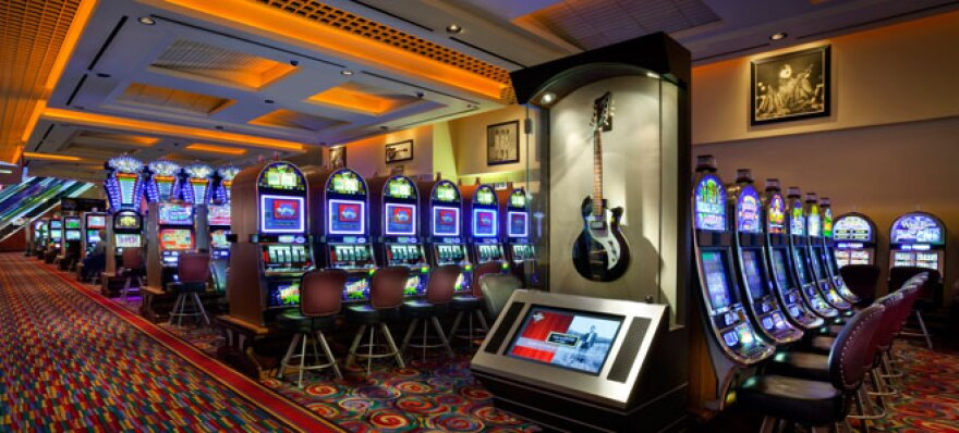 casino floor with slot machines