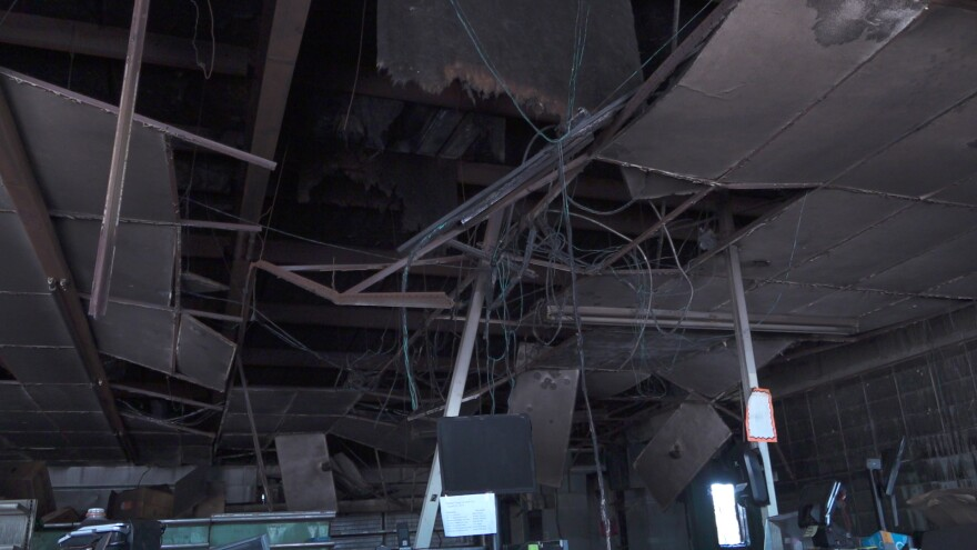 The store owners plan to rebuild the supermarket.